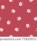 Beautiful children's elements birds and plants seamless pattern 75826031