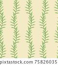 Beautiful children's elements birds and plants seamless pattern 75826035