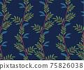 Beautiful children's elements birds and plants seamless pattern 75826038
