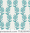 Beautiful children's elements birds and plants seamless pattern 75826040