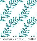 Beautiful children's elements birds and plants seamless pattern 75826041