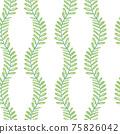 Beautiful children's elements birds and plants seamless pattern 75826042