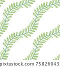Beautiful children's elements birds and plants seamless pattern 75826043