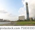 Chiba Port Park Beach Plaza (artificial beach) and Chiba Port Tower 75830393