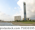 Chiba Port Park Beach Plaza (artificial beach) and Chiba Port Tower 75830395