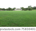 Chiba Port Park circular lawn open space and outdoor stage 75830401