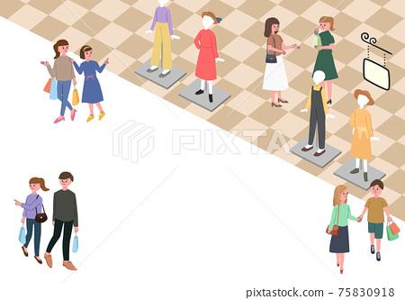 購物中心的3D插圖 75830918