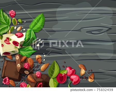 Cartoon White And Milk Chocolate Template 75832439