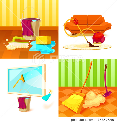 Cleaning Service Icon Set 75832590