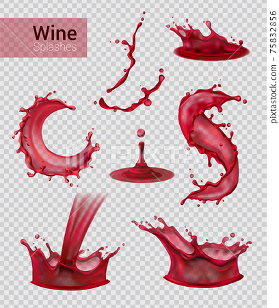 Red Wine Spray Collection 75832856
