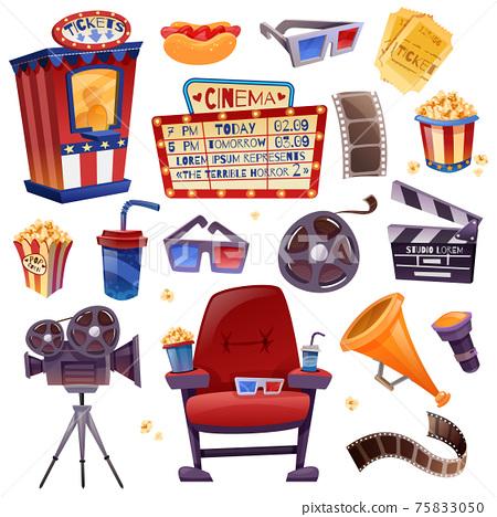 Cinema Cartoon Set 75833050