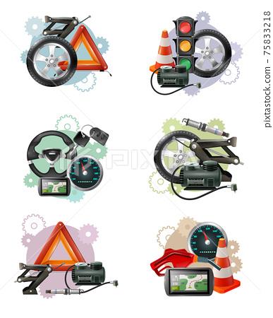 Car Maintenance Sign Set 75833218