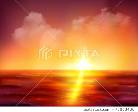 Sunrise Over Ocean 75833436