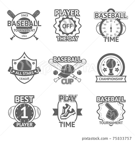 Baseball Emblems Set 75833757
