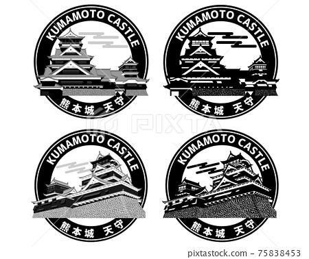 Kumamoto Castle (Wappen icon logo mark) 75838453