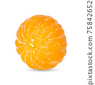 Peeled mandarin isolated on the white with shadow 75842652
