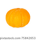 Peeled mandarin isolated on the white with shadow 75842653