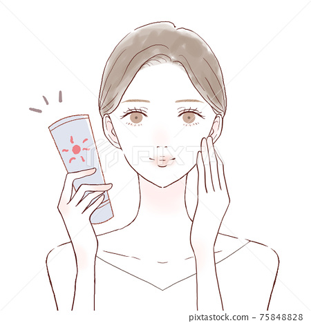 護膚女性防曬霜 75848828