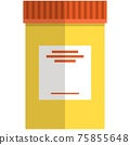 Pill plastic bottle vector isolated on white 75855648