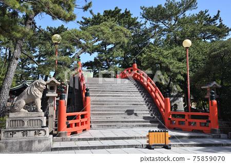sumiyoshi, sumiyoshi grand shrine, shrine 75859070