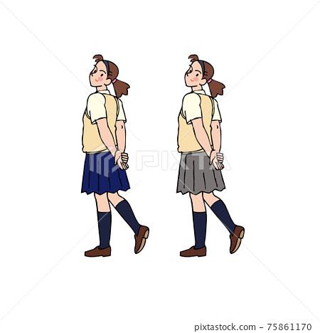 High school girl looking back 75861170