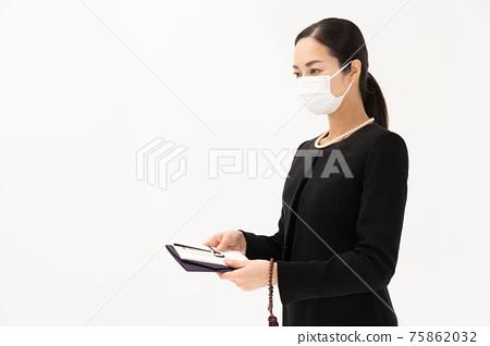부의금 봉투 상복 여성 마스크 75862032