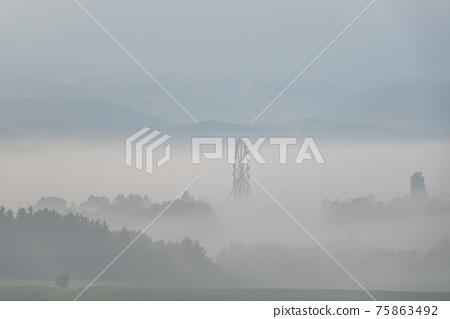 北海道 有霧的 霧 75863492