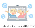 老人 夫婦 情侶 75863712