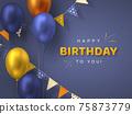 Happy Birthday holiday design. 75873779