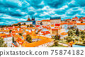 Church Saint Vitus, Ventseslaus and Adalbert and area Lesser Town of Prague. Czech Republic. 75874182