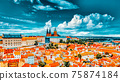 Church Saint Vitus, Ventseslaus and Adalbert and area Lesser Town of Prague. Czech Republic. 75874184
