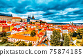 Church Saint Vitus, Ventseslaus and Adalbert and area Lesser Town of Prague. Czech Republic. 75874185