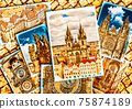 Collage of beautiful Prague. 75874189