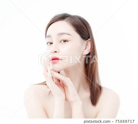 Portrait Of Beautiful Woman in Studio 75889717