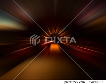 car speed motion on night road 75890033