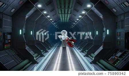 Scifi fiction concept. 3d rendering. 75890342