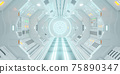 Corridor spaceship Interior. 3d rendering. 75890347