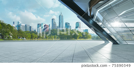 Modern building exterior and cityscape. 75890349