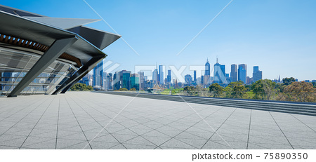 Modern building exterior and cityscape. 75890350