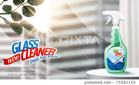 Modern glass cleaner ad banner 75892150
