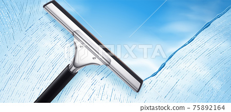 Squeegee cleaning glass 75892164