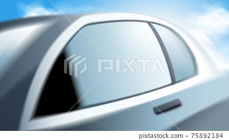 Modern blur silver car 75892184
