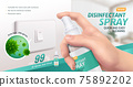 Disinfectant spray ad 75892202
