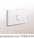 Electric light switch board 75892206