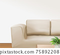 Living room background with sofa 75892208