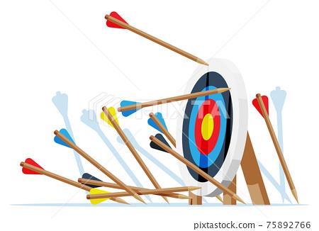 Many arrows missed target mark. 75892766