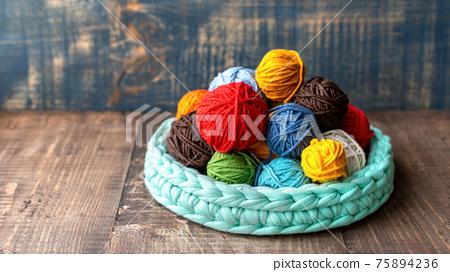 Multicolored yarn balls 75894236