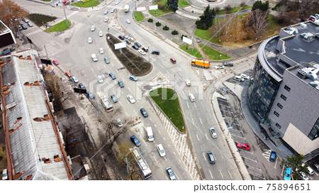 Aerial drone view of Chisinau, Moldova 75894651