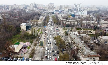 Aerial drone view of Chisinau, Moldova 75894652