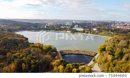 Aerial drone view of Chisinau, Moldova 75894660
